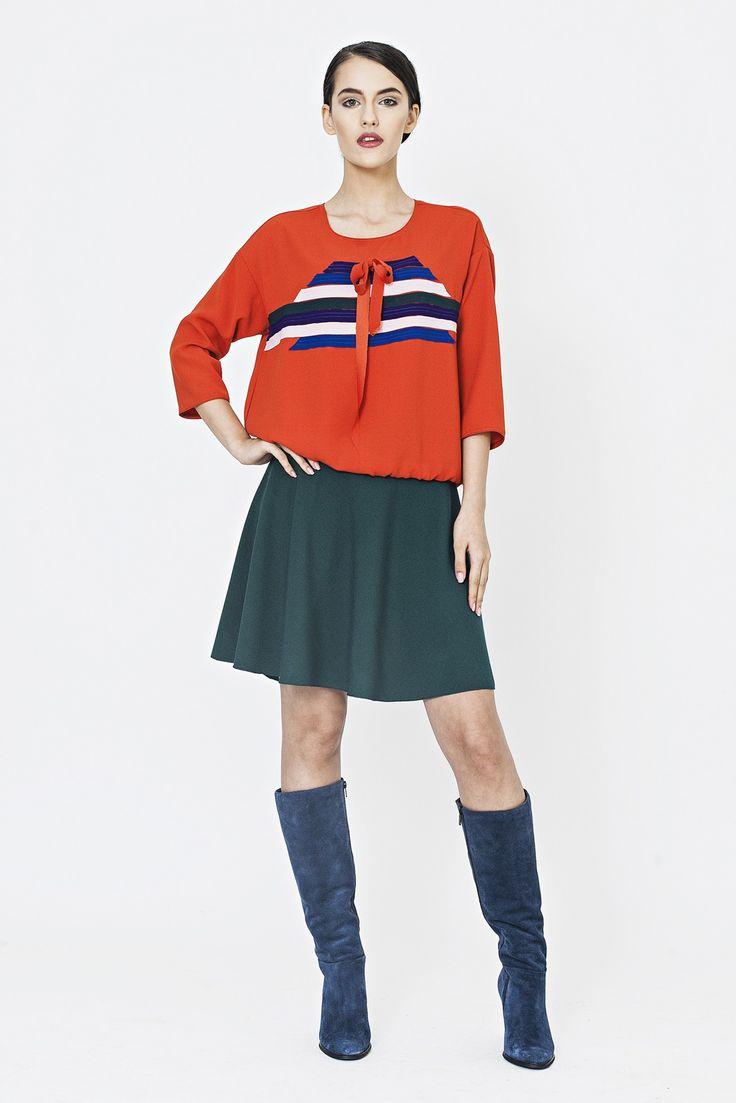 Mini green skirt    http://shop.lenacriveanu.ro/