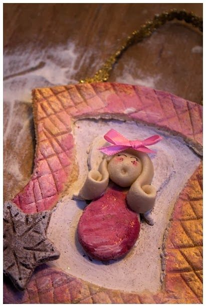 Świąteczna ramka z aniołkiem www.rekodzielo-art.pl