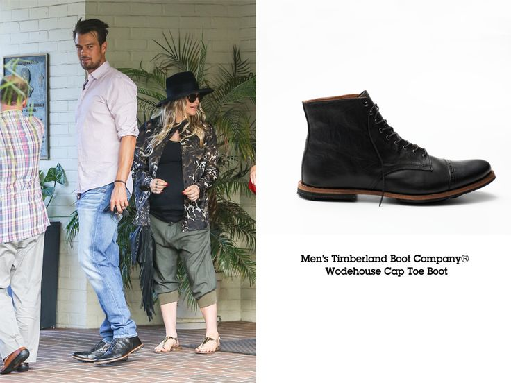 SPOTTED: Transformers actor Josh Duhamel wears Timberland #BootCo Wodehouse Cap Toe with wife Fergie.