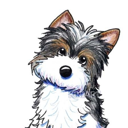 Tom, you should draw me this Yorkie only better...