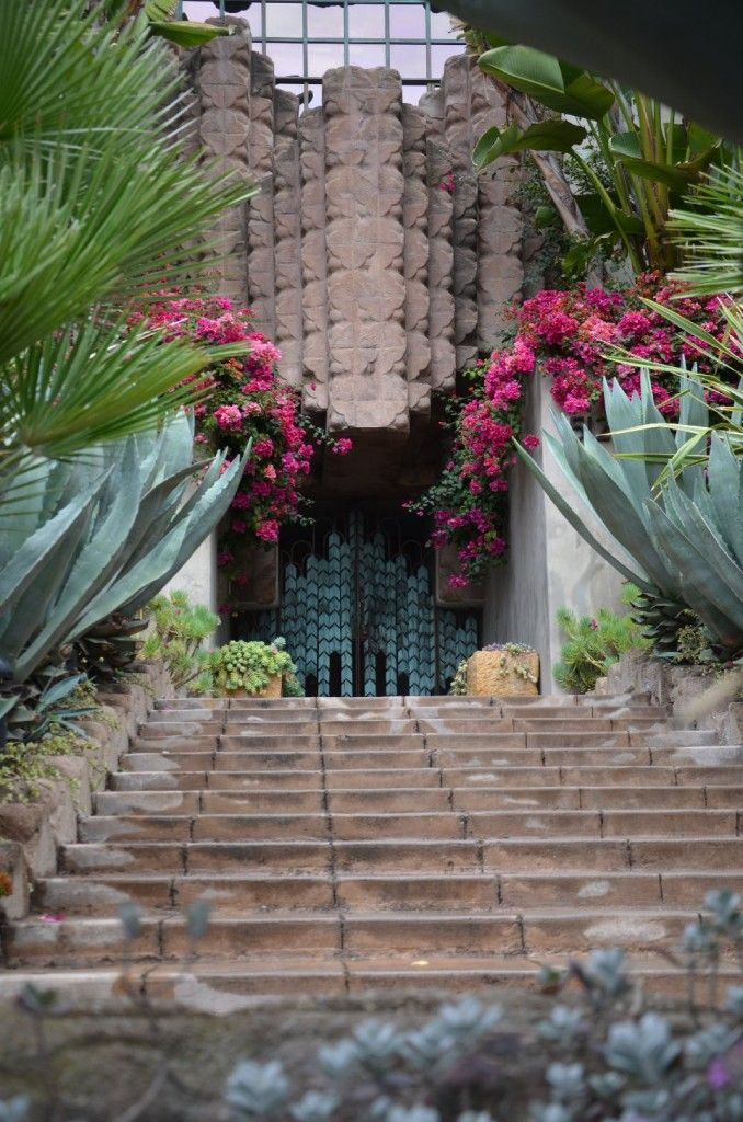 This exotic entrance to a Hollywood home was snapped on a recent Elite Adventure Tours visit to one of the possible locations where Elizabeth Short was murdered in 1947.  Known as the Black Dahlia her killing has still not been solved.  The house, designed by Frank Lloyd Wright, was then the home of Dr. George Hodel.  As creepy as these tours of crime scenes and horrible deaths can be, our guests requesting them certainly enjoy their time with us.