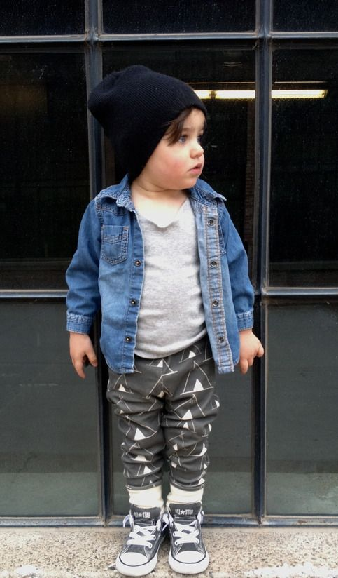 teepees in charcoal organic cotton leggings from littlecocoabean