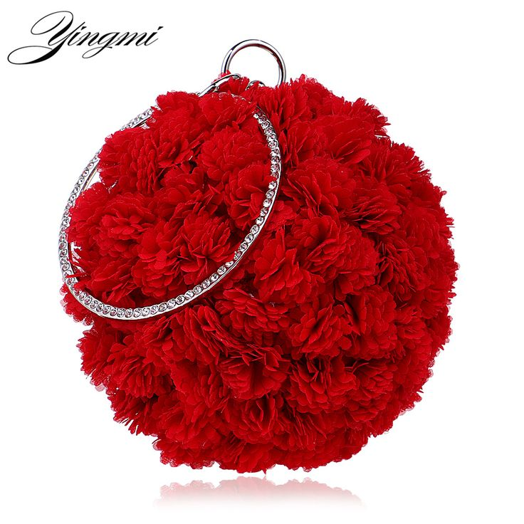 Cheap handbag cake, Buy Quality handbag boutique directly from China handbag wholesale new york Suppliers: NEW Arrival Flower Accessory Women Evening Bags Diamonds Round Shaped Red/Pink Color For Wedding Day Clutches Purses