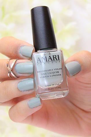 Halal nail polish, Amari NY breatheable, vegan nail lacquer. Vegan nail polish, cruelty-free nail polish.
