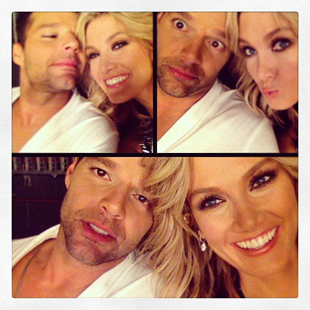 Delta Goodrem and Ricky Martin took some selfies before their performances on The Voice grand final on Monday night. Source: Instagram user deltagoodrem