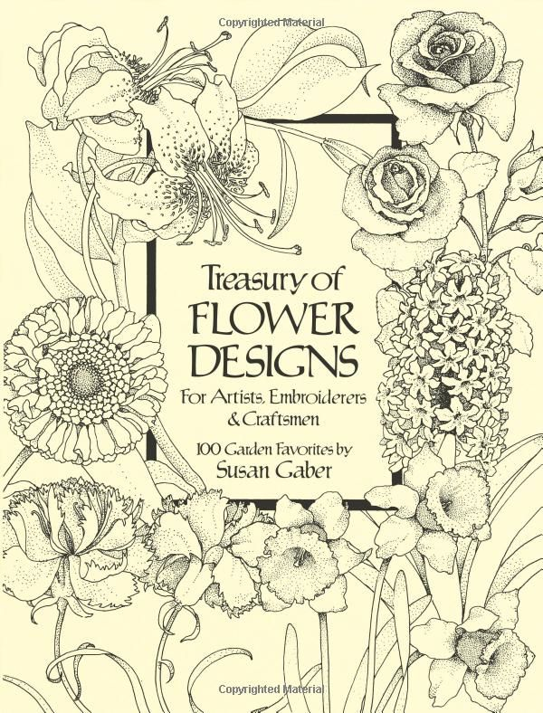 Treasury of Flower Designs for Artists, Embroiderers and Craftsmen Dover Pictorial Archives: Amazon.de: Susan Gaber: Fremdsprachige Bücher