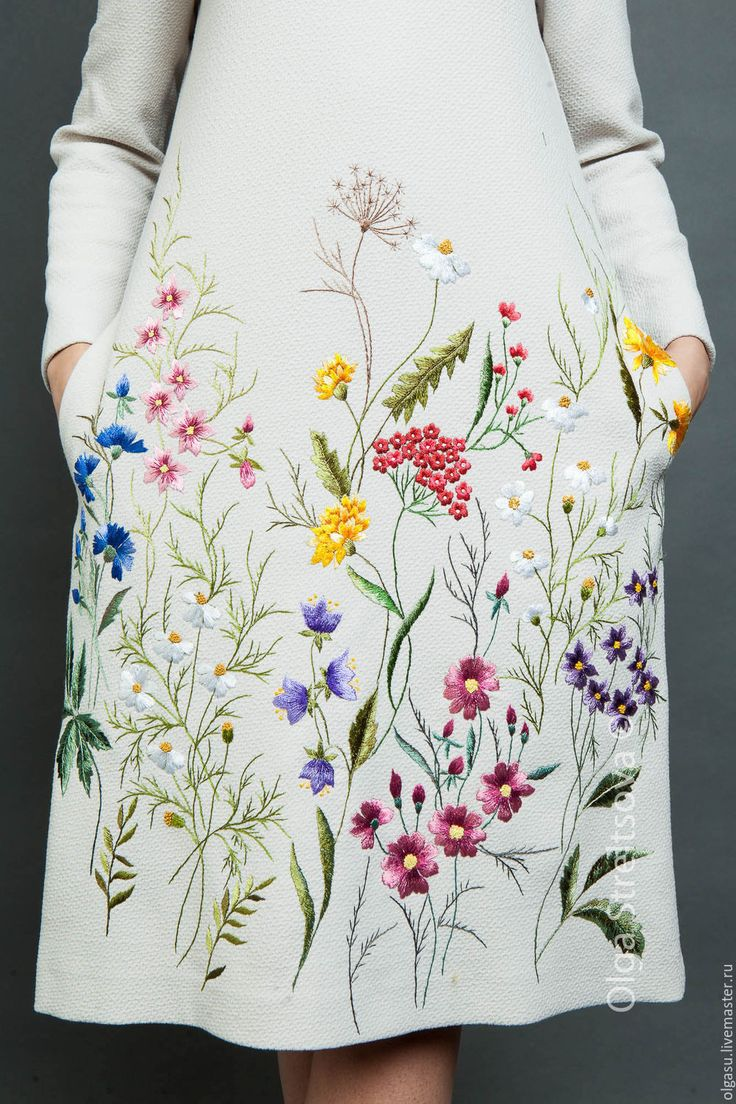 embroidered dress by Olga Streltsova