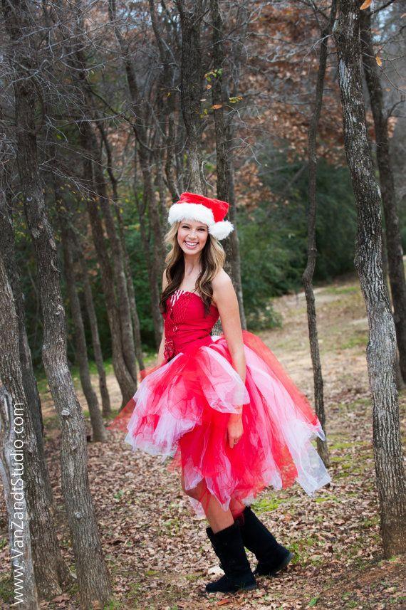 Adult Christmas tutu dress high low tutu dress holiday by ...