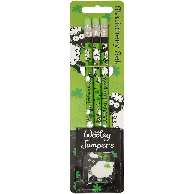 Wooly Jumper Pencils 3/Pkg-