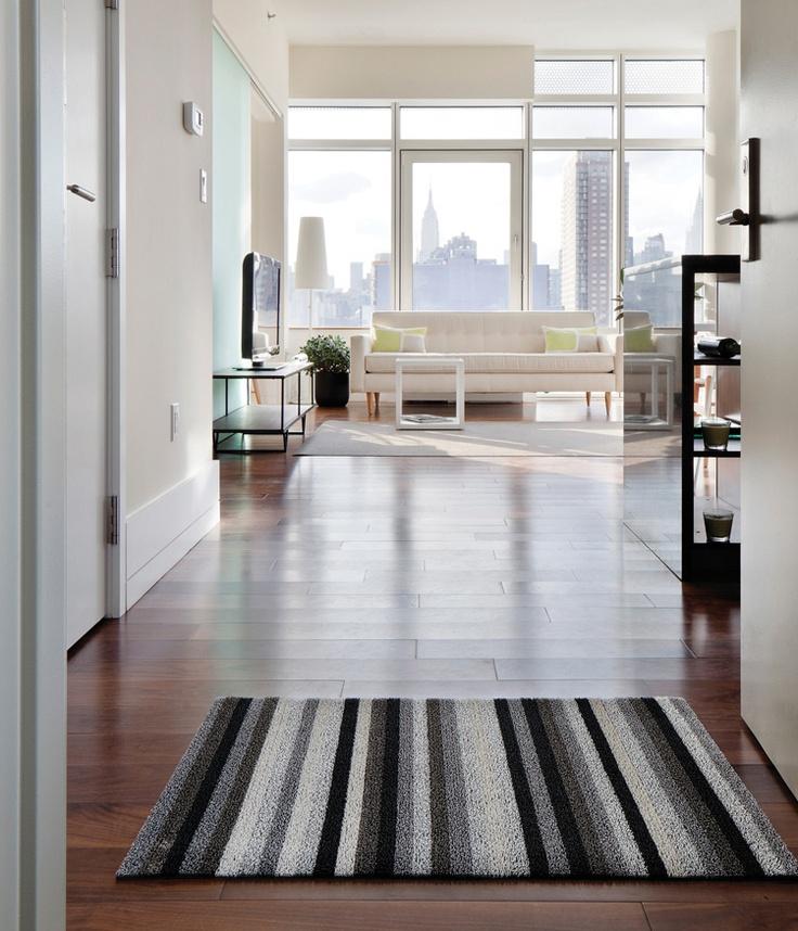 Chilewich - Even Stripe Shag Indoor Outdoor Mat