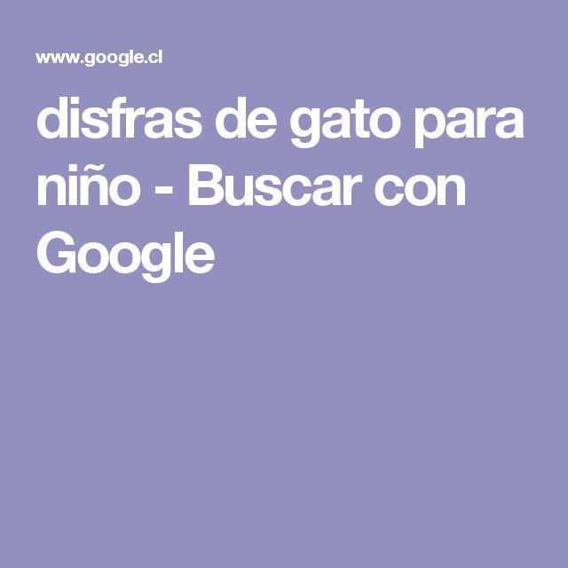 disfras de gato para niño - Buscar con Google