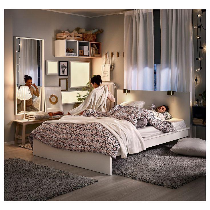 IKEA MALM Bed frame, high white, Lönset in 2020 Malm