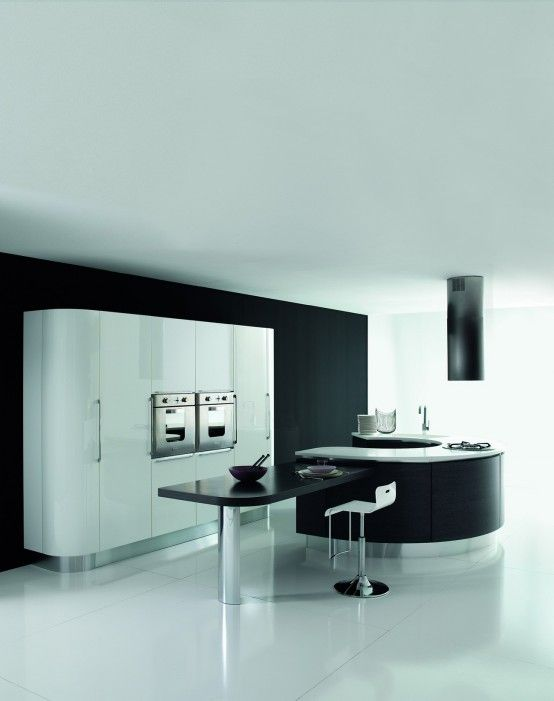 muebles de cocina de diseño circular