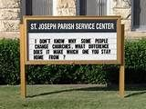 25 Funny Church Signs – Pleated-Jeans.com