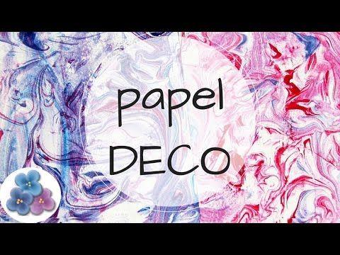 Como Hacer Papel Decorado a Mano para Scrapbook video Tutorial DIY español Pintura Facil - YouTube