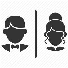 MEN AND WOMEN BATHROOM SYMBOLS - Google Search