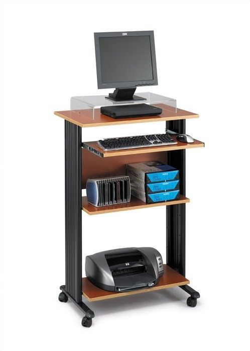 MUV Fixed Stand-Up Workstation AV Cart