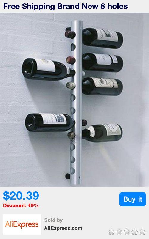 Free Shipping Brand New 8 holes Vertical Wine Racks Holder Metal Bottle Rack Wine Coolers Holders Buckets Barware, 8 holes * Pub Date: 12:03 Jun 27 2017