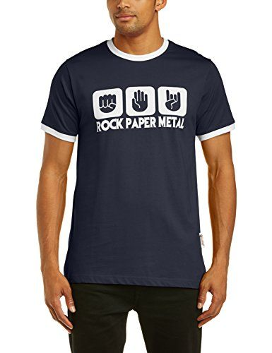 Touchlines Mens T-Shirt Contrast Ringer Stone Paper Rock Heavy Metal - Blue - Navy/white - Medium No description (Barcode EAN = 4250680707942). http://www.comparestoreprices.co.uk/december-2016-4/touchlines-mens-t-shirt-contrast-ringer-stone-paper-rock-heavy-metal--blue--navy-white--medium.asp