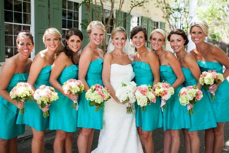 bridesmaid dress colors | Bridesmaid dresses are Lula Kate - color is Paradise