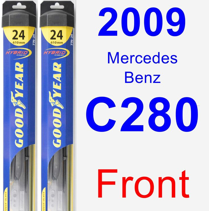 Front Wiper Blade Pack for 2009 Mercedes-Benz C280 - Hybrid