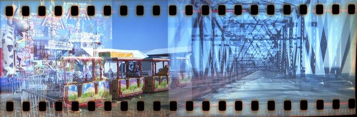 The ride home. 35mm film in Holga 120 camera.