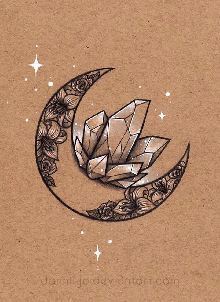 Crystals tattoo