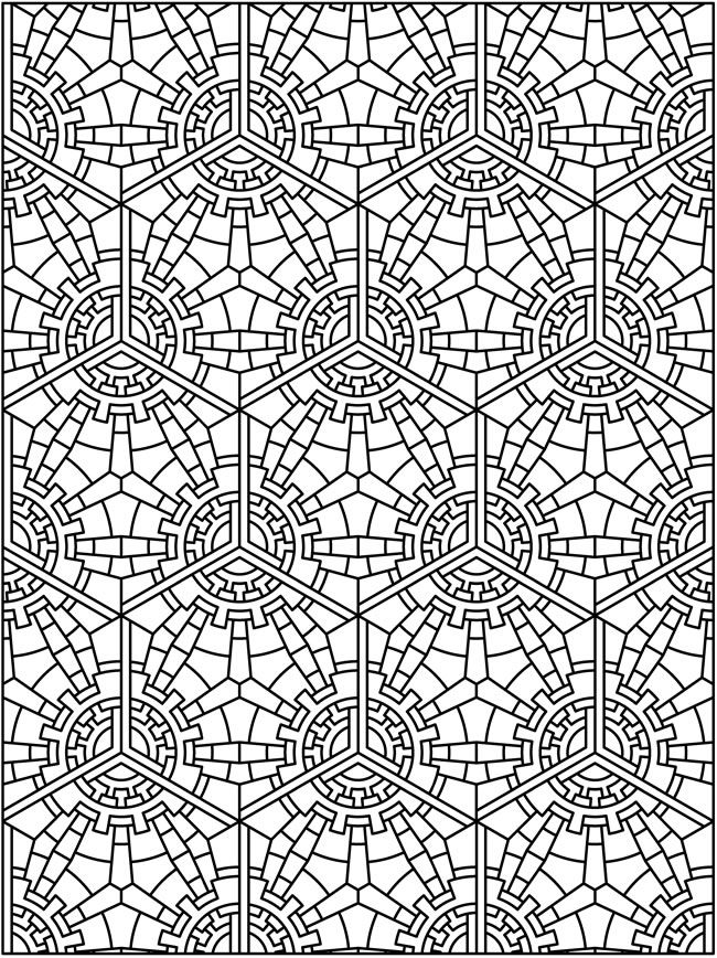 Creative Colouring Patterns : Tessellation patterns coloring pages