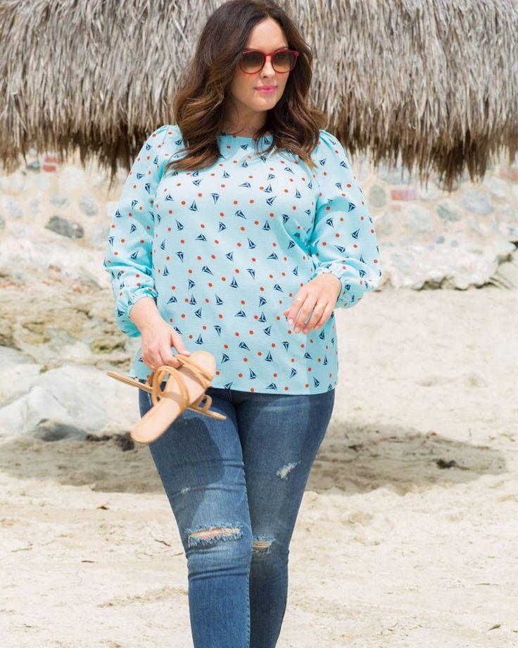 Kiyonna Womens Plus Size Modern Maven Blouse 11