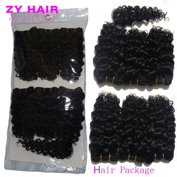 Sexy Female Summer Short curly hair with closure 7A Brazilian Kinky Curly Hair Cheveux Bresilien Avec HumanHair Short Curly