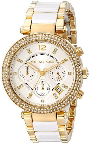 Women's Wrist Watches - Michael Kors Womens Parker White Watch MK6119 ** Check out the image by visiting the link.