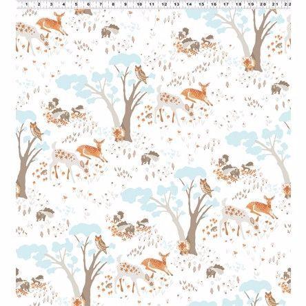Y2065-62 Woodland Gathering Animals on White