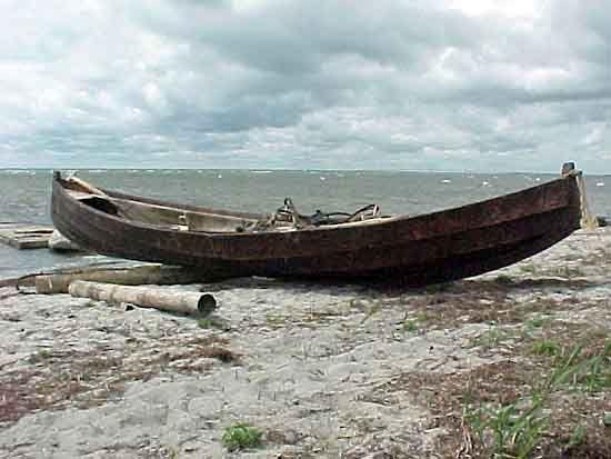 Boat on the Foteviken beach, Misha Naimark
