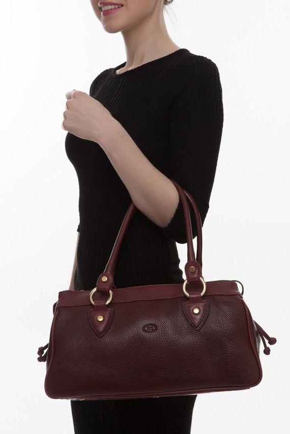 Cathy Prendergast Irish Designer Leather Handbags - Banba Burgundy Tote Bag