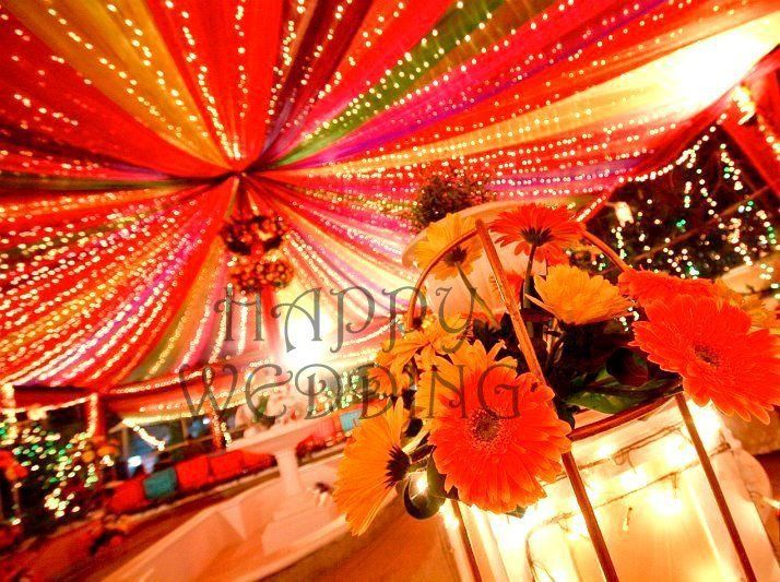 Home Decoration In Punjabi Wedding : Colorful canopy for mehndi indian decor home