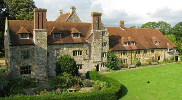 Michelham Priory - England's longest water filled moat surrounds the site which dates back to 1229