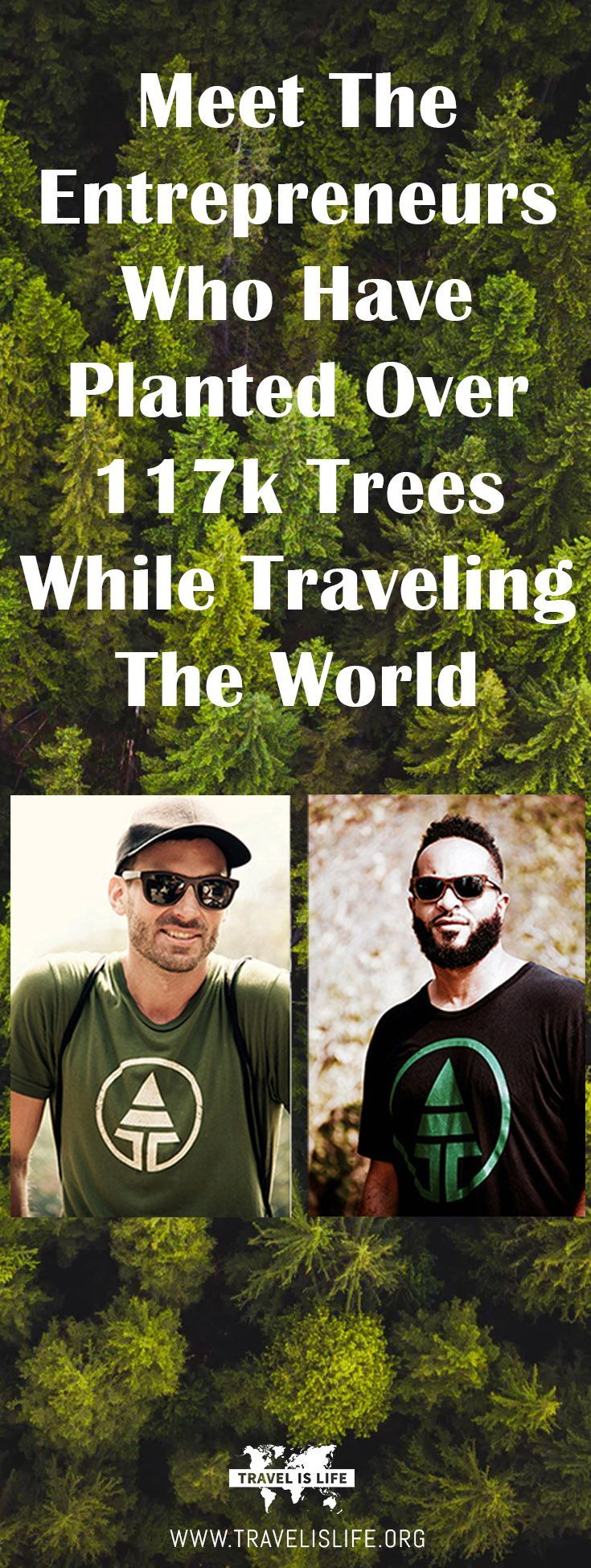 Meet Joe and Sharif, the founders of Tree Tribe - an outdoor lifestyle brand that plants 10 trees for every sale they make. Brought to you by TravelisLife.org. #treelove #treetribe #travel #digitalnomads #nomadlife #nomadentrepreneurs