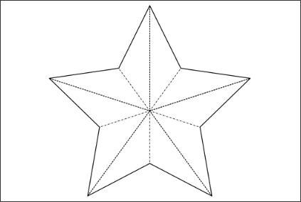 3d paper star template