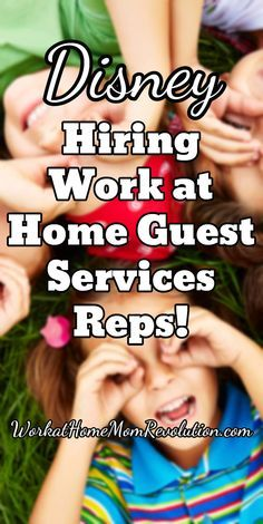 Disney Hiring Work at Home Guest Services Reps! These are part and full-time work from home opportunities available in the U.S. Awesome home-based job opportunity! WorkatHomeMomRevolution.com