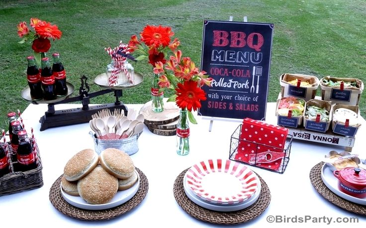 Summer BBQ Party Tablescape Ideas #ShareaCokeContest