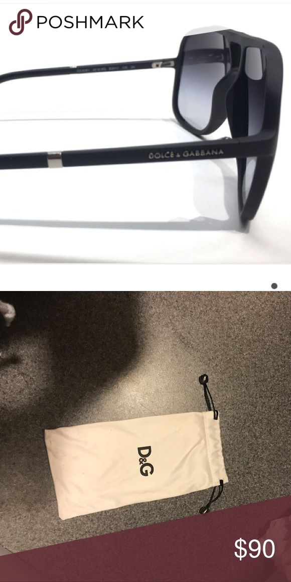 Dolce and Gabbana sunglasses Will upload more photos in the morning so won't be accepting offers until then! But authentic black sunglasses with cloth bag. These sunglasses are black with silver and are great for any gender! Dolce & Gabbana Accessories Sunglasses