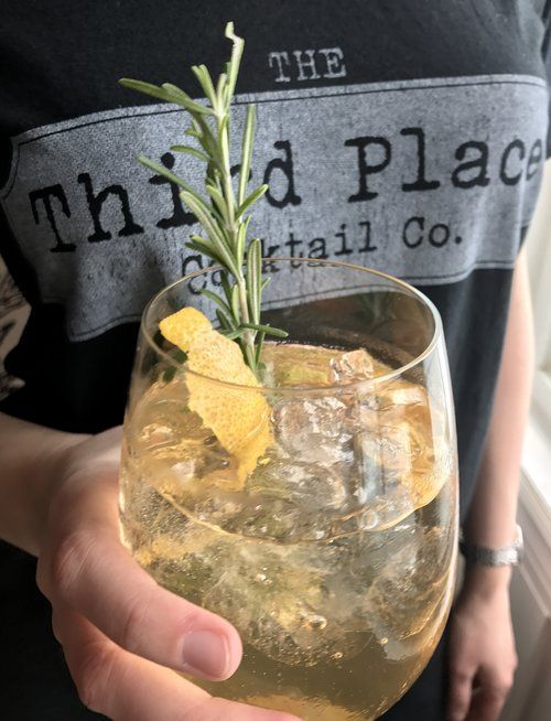 Holiday Cocktail recipes for your Christmas party https://www.allyblog.com/home/third-place-tonic-holiday-cocktails gin and tonic, lemon, rosemary, ginger rose, elderflower, whiskey, drink, mixology, bartender, party hosting, third place cocktail company, New Year's Eve