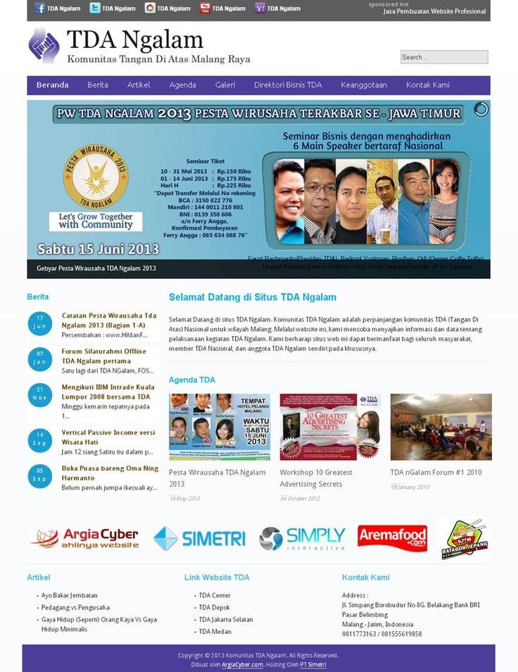 sebuah website forum bisnis di kota Malang-TDA Ngalam. tdangalam.com