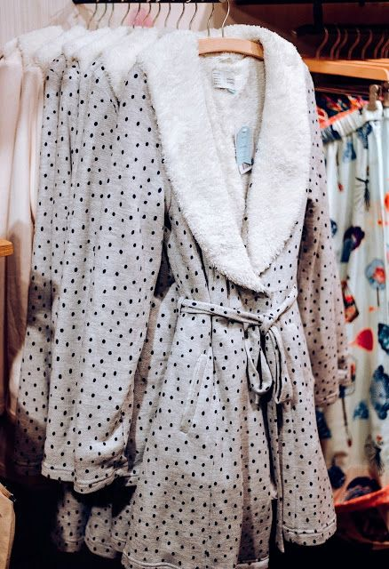 Warm and fuzzy robe at Anthropologie.