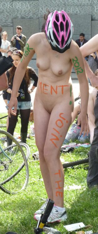 Join The Movement WNBR 2012 body painting. London naked bike ride, June 2012.