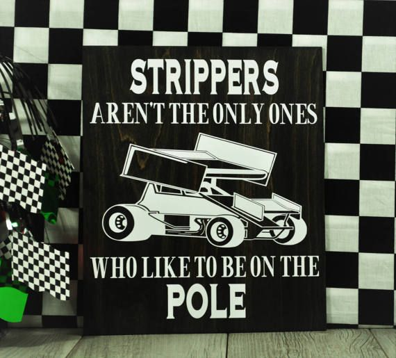 Racing signDirt track racingSprint CarFathers by Checkeredflagswag