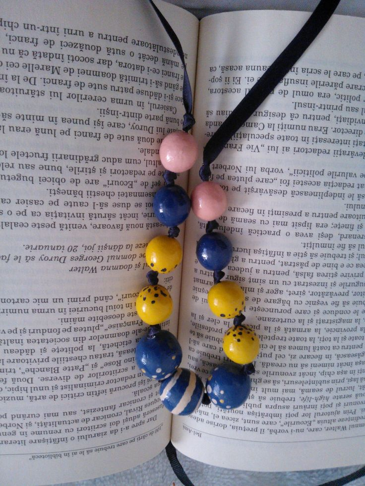 Diana#clay beads#margele lut blue#yellow#salmon