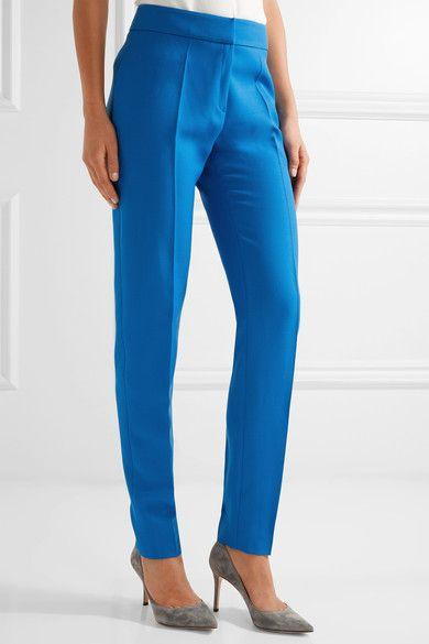 Pallas - Adonis Grain De Poudre Wool Skinny Pants - Azure - FR