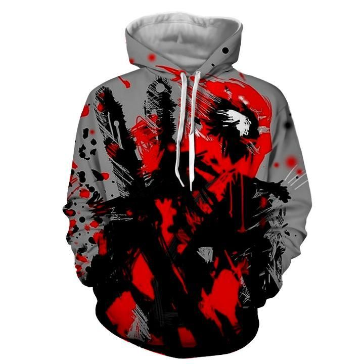 Deadpool Hoodie - Deadpool Art Hoodie - Deadpool Jacket
