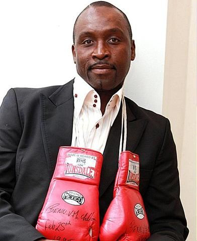 My hero, Nigel Benn. Met the great man last year; he was thrilled that I had seen him fight Anthony Logan in 1988. Lovely guy, and still in frightening shape.